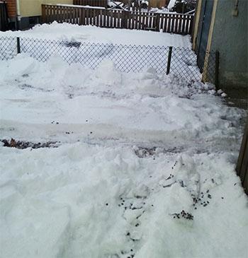 Högt med snö